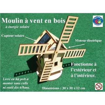 Moulin vent hollandais en bois nergie solaire - Moulin a vent decoratif ...