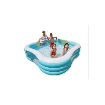 Piscine carr e hublot 229x229x56cm intex en occasion ou for Piscine carree intex