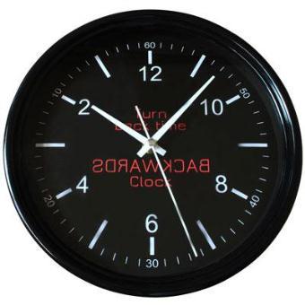 wiki horloge a l 39 envers coloree noire top prix fnac. Black Bedroom Furniture Sets. Home Design Ideas