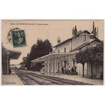 haute vienne bussiere galant station gare carte postale ancienne carte postale ancienne. Black Bedroom Furniture Sets. Home Design Ideas
