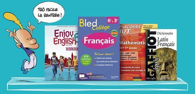 Livres et manuels scolaires pour tous les niveaux