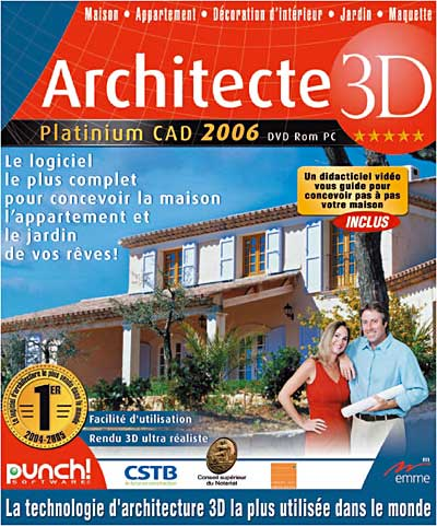 architecte 3d de emme logiciels windows software. Black Bedroom Furniture Sets. Home Design Ideas