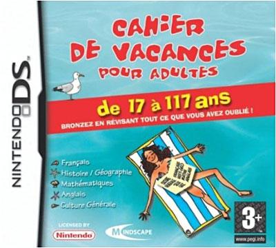 Cahier de Vacances pour Adultes DS