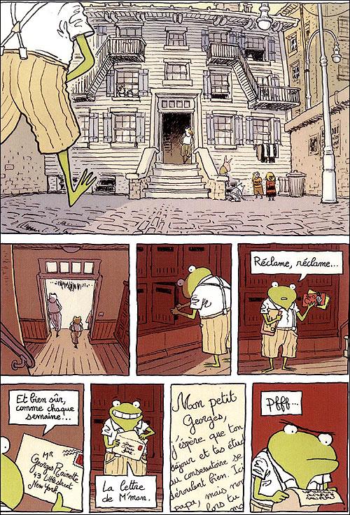Extrait planche de Georges Frog