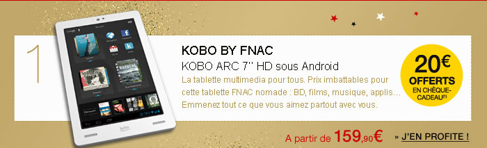 Tablette Kobo by Fnac - Kobo Arc 7'' Blanc 8 Go
