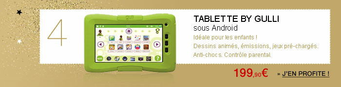 Tablette Gulli sous Android