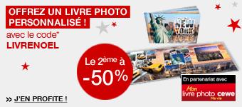 Livres photo - Offrez un cadeau personnalisé pour Noël - le 2ème à -50%
