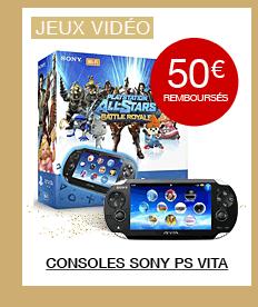50€ remboursés sur les consoles Sony PS Vita
