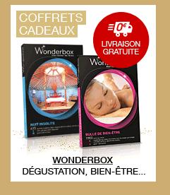 Livraison offerte sur les Coffrets cadeaux Wonderbox